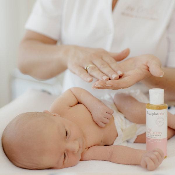 Das richtige Öl für die Babymassage